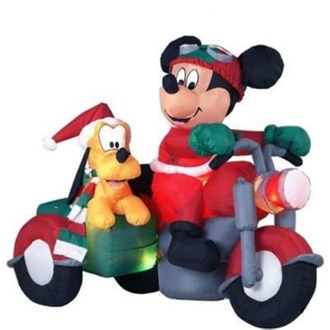 mickey mouse  friends outdoor christmas inflatables