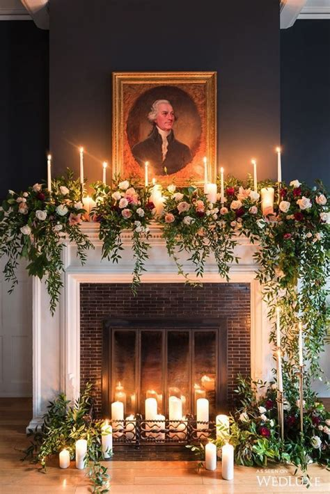 Decorating With Candles Fireplace by Langdon Home Ideas Wedding Fireplace Church