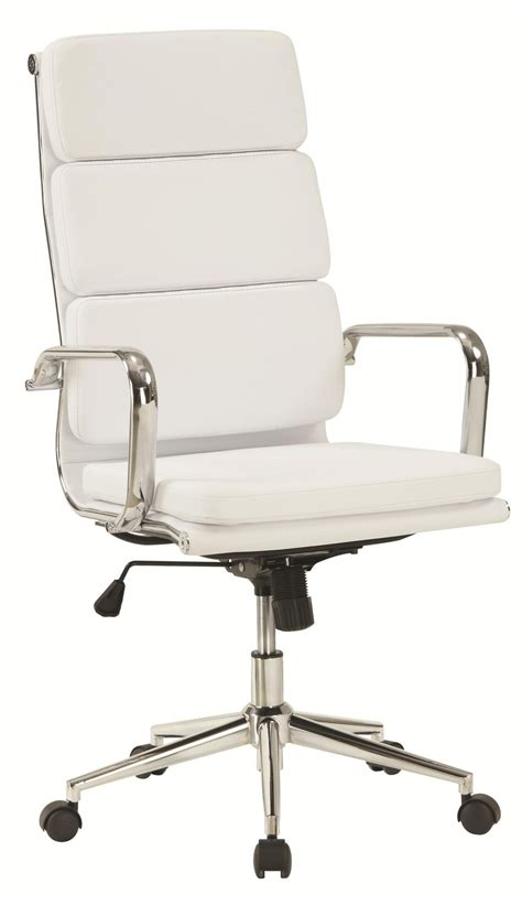 white office chair leather coaster 800837 white leather office chair a sofa