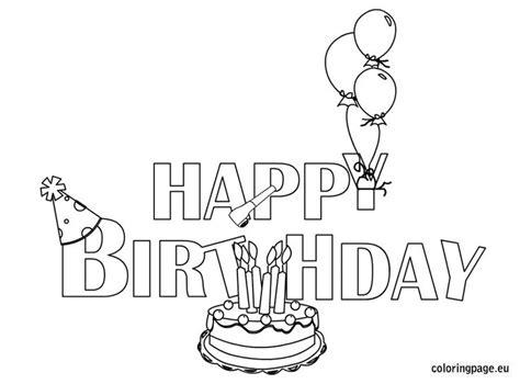 happy birthday coloring page happy birthday coloring