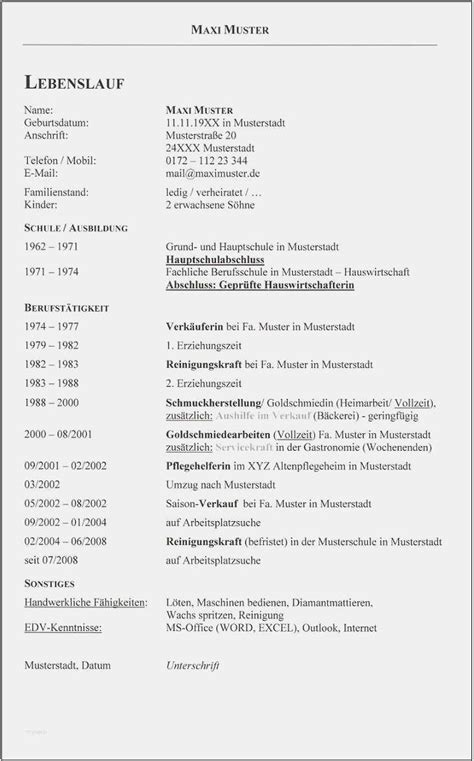 Vordruck Tabellarischer Lebenslauf by 17 Tabellarischer Lebenslauf Vorlage Zum Ausf 252 Llen