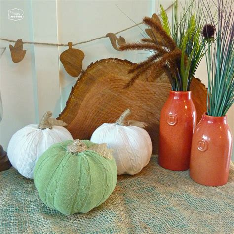 diy pumpkins cozy up your fall decor with easy diy sweater pumpkins the happy housie