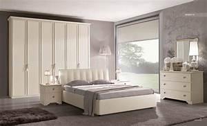Camera matrimoniale in stile provenzale laccata bianca for Camera matrimoniale bianca