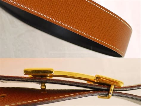 Authentic Hermes H Logo Reversible Belt Box Calf