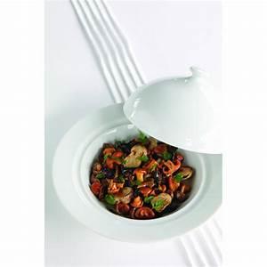 Assiette Creuse Blanche : assiette creuse avec cloche en porcelaine blanche ~ Teatrodelosmanantiales.com Idées de Décoration