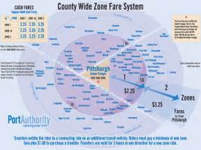 Pittsburgh Port Authority Zone Map