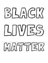 Matter Lives Coloring Sheet Schools Mindful sketch template