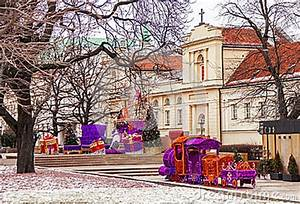 Famous Old Town Warsaw With Church Christmas Tree Toy