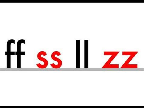 Ss, Ll, Zz, Ff  Phonics  Double Letters Youtube
