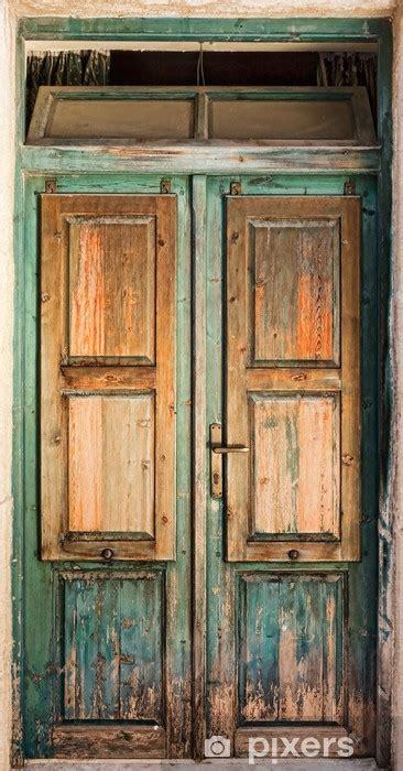 vinilo pixerstick puerta de madera vieja pixers