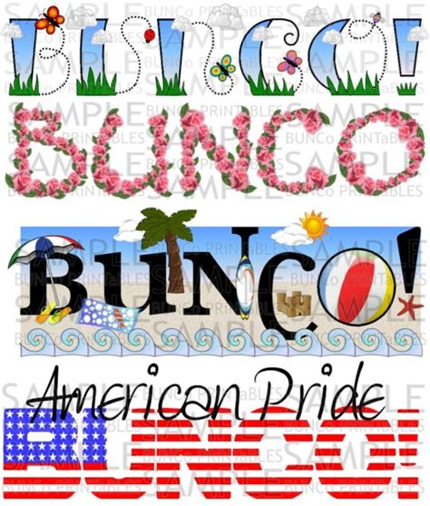 free bunco bunco bunco printables