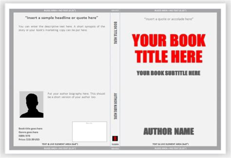 Book Templates For Microsoft Word Cover Templates For Print Use Ms Word To Create