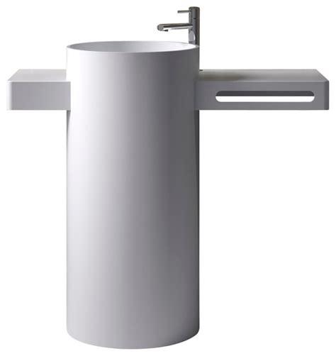 Modern Bathroom Freestanding Sinks by Adm Free Standing Resin Pedestal Sink Matte