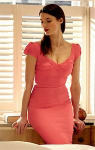Size Chart 6 Inches Nigella Dress In Coral Pink Coral Pink Bodycon Dress
