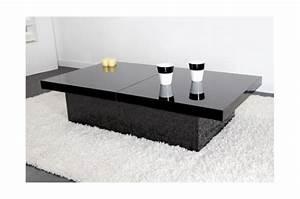 Table Basse Noire Design : table basse coulissante noire madrid design sur sofactory ~ Teatrodelosmanantiales.com Idées de Décoration