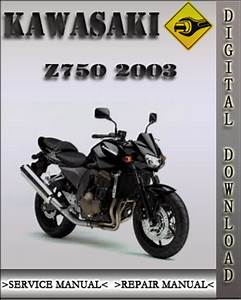 2003 Kawasaki Z750 Factory Service Repair Manual