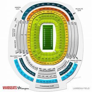 Lambeau Field Seating Chart With Rows Lambeau Field Seating Chart Lambeau Field Tickets