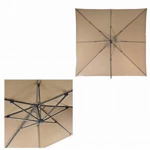 Sonnenschirm Größe Berechnen : ampelschirm sonnenschirm verona 3 x 3 m braun ~ Watch28wear.com Haus und Dekorationen