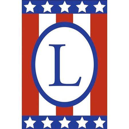 patriotic applique monogram  garden flag letter  double sided    walmartcom