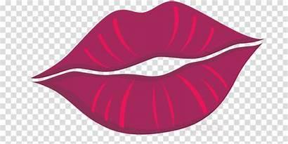 Lips Cartoon Clipart Lipstick Drawing Kiss Animated