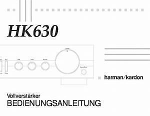 Harman Kardon Hk 630  Serv Man8  User Guide    Operation Manual  U2014 View Online Or Download Repair