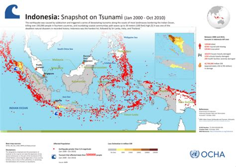 indonesia snapshot  tsunami jan  oct