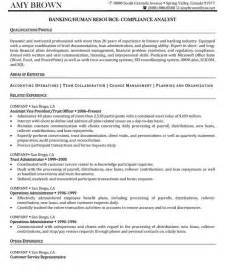 compliance analyst resume format human resources resume sles resume professional writers