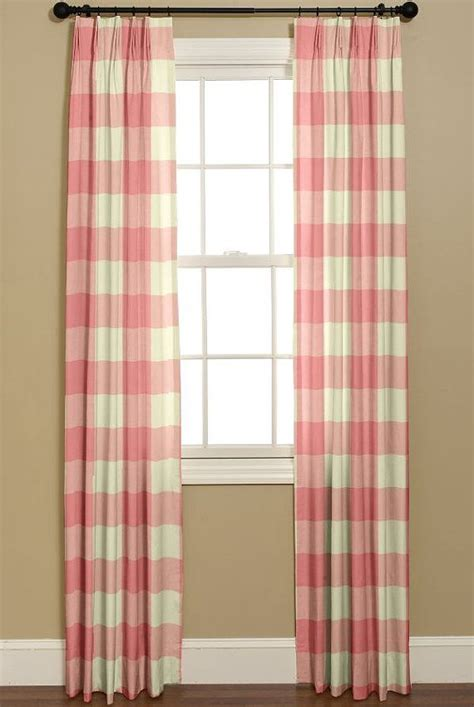 buffao check curtains p kaufmann large check strawberry