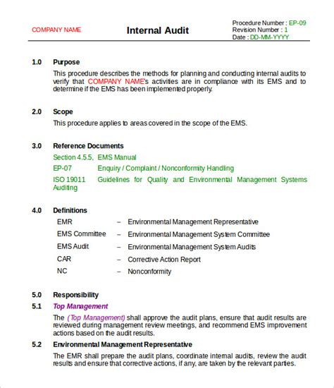 Audit Scope Template by 19 Audit Report Templates Pdf Doc Free