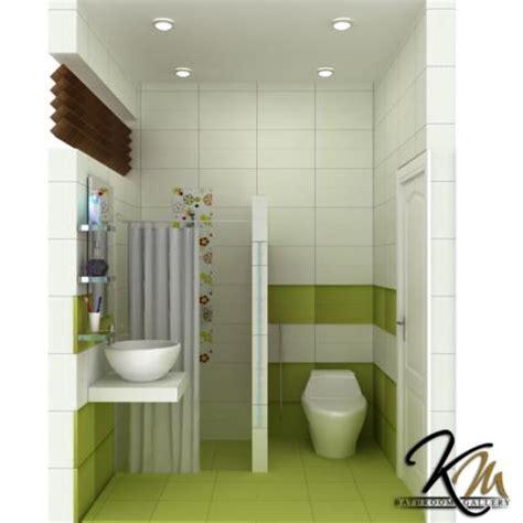 desain kamar mandi minimalis green theme desain rumah