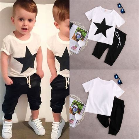 Kids Baby Boys Casual Star T shirt Tops +Harem Pants 2 pcs ...