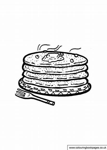 Pancake Colouring Tuesday Printable Shrove Activities Colouringbookpages