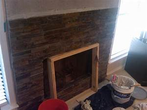 stone veneer over brick fireplace diy diy do it your self With stone veneer fireplace for renovation