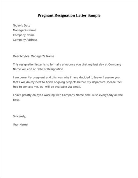 Letter Of Voluntary Resignation Sample - Sample Resignation Letter