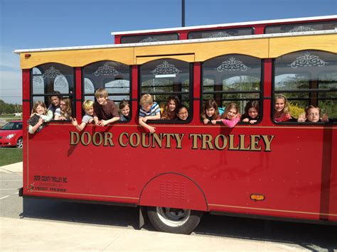 door county trolley traveling trolley tales where the things write