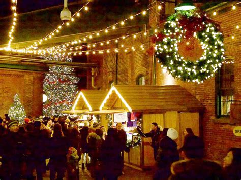 distillery district christmas market travel leisure