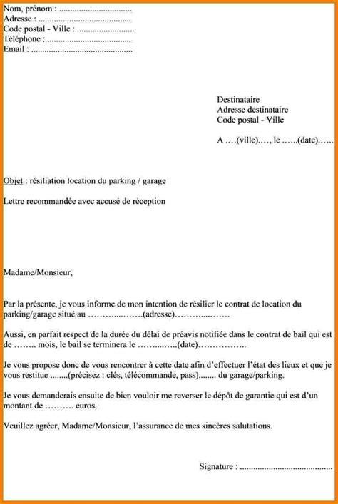 modèle lettre résiliation bail 1 mois mod 232 le de courrier de r 233 siliation de bail locatif jaoloron