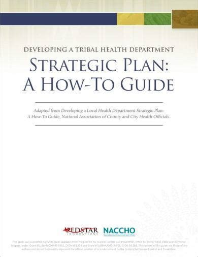 tribal health department strategic plan