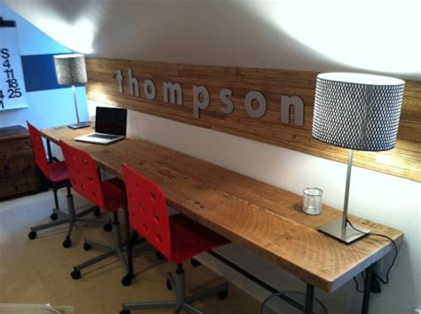 long desks for home office reclaimed wood desks and home office furntiure modern