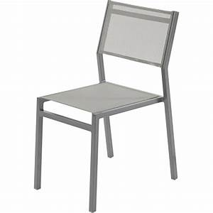 chaise de jardin en aluminium niagara gris leroy merlin With leroy merlin chaise jardin
