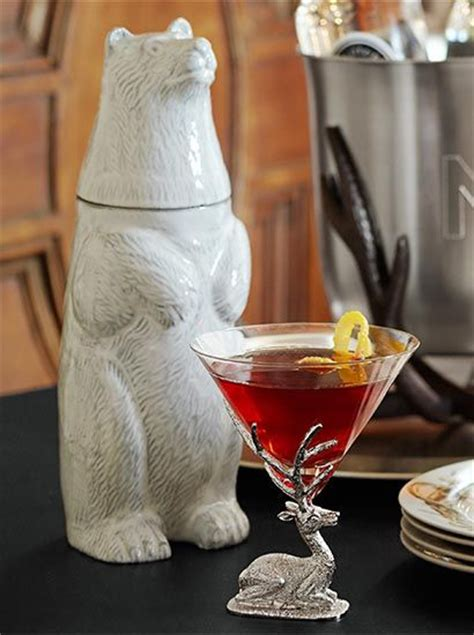 polar bear cocktail shaker  cool   guess