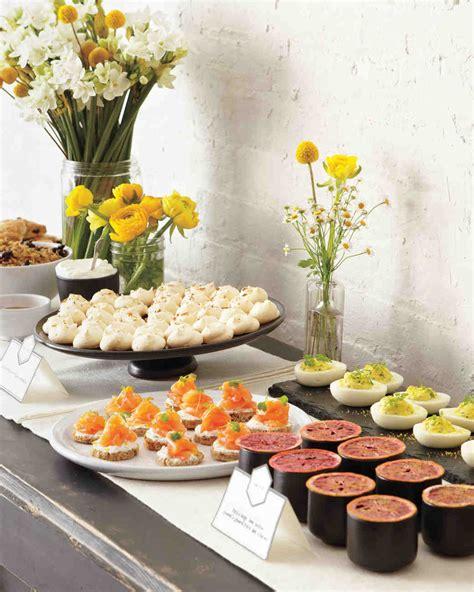 food ideas for bridal shower how to plan a bridal shower martha stewart weddings