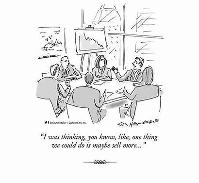 Sales Cartoon Leads Convert Marketing Closing Maybe