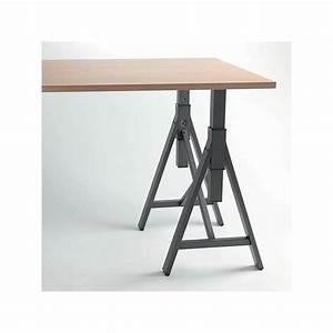 Pied De Table Reglable : pied de table tr teau noir ou blanc r glable brooklyn 700 ~ Edinachiropracticcenter.com Idées de Décoration