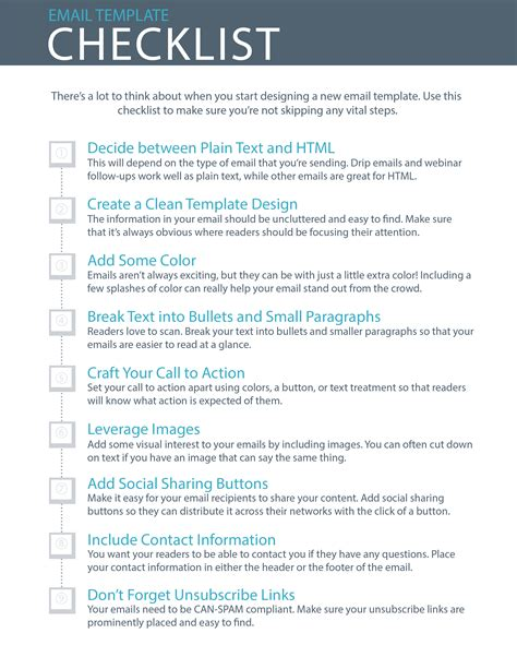 Home Design Checklist by 9 Essential Steps To Email Template Design Checklist
