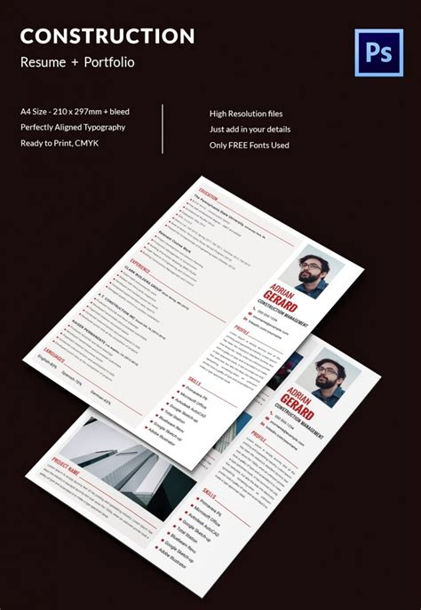 project manager resume template   word excel