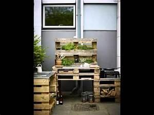 Outdoor Kitchen Selber Bauen : palettenmoebel selber bauen garten outdoor kueche krauter ~ Lizthompson.info Haus und Dekorationen