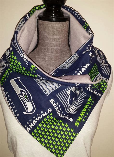 seahawks unisex scarf   side snap buttons