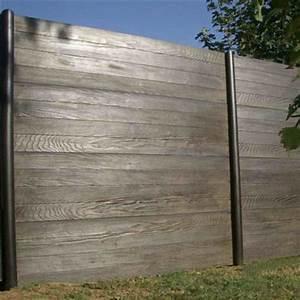Cloture Beton Imitation Bois : cl ture double face lames ou panneaux en b ton imitation ~ Dailycaller-alerts.com Idées de Décoration