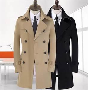 Trench Coat Homme Long : free shipping men 39 s trench coat spring manteau homme ~ Nature-et-papiers.com Idées de Décoration